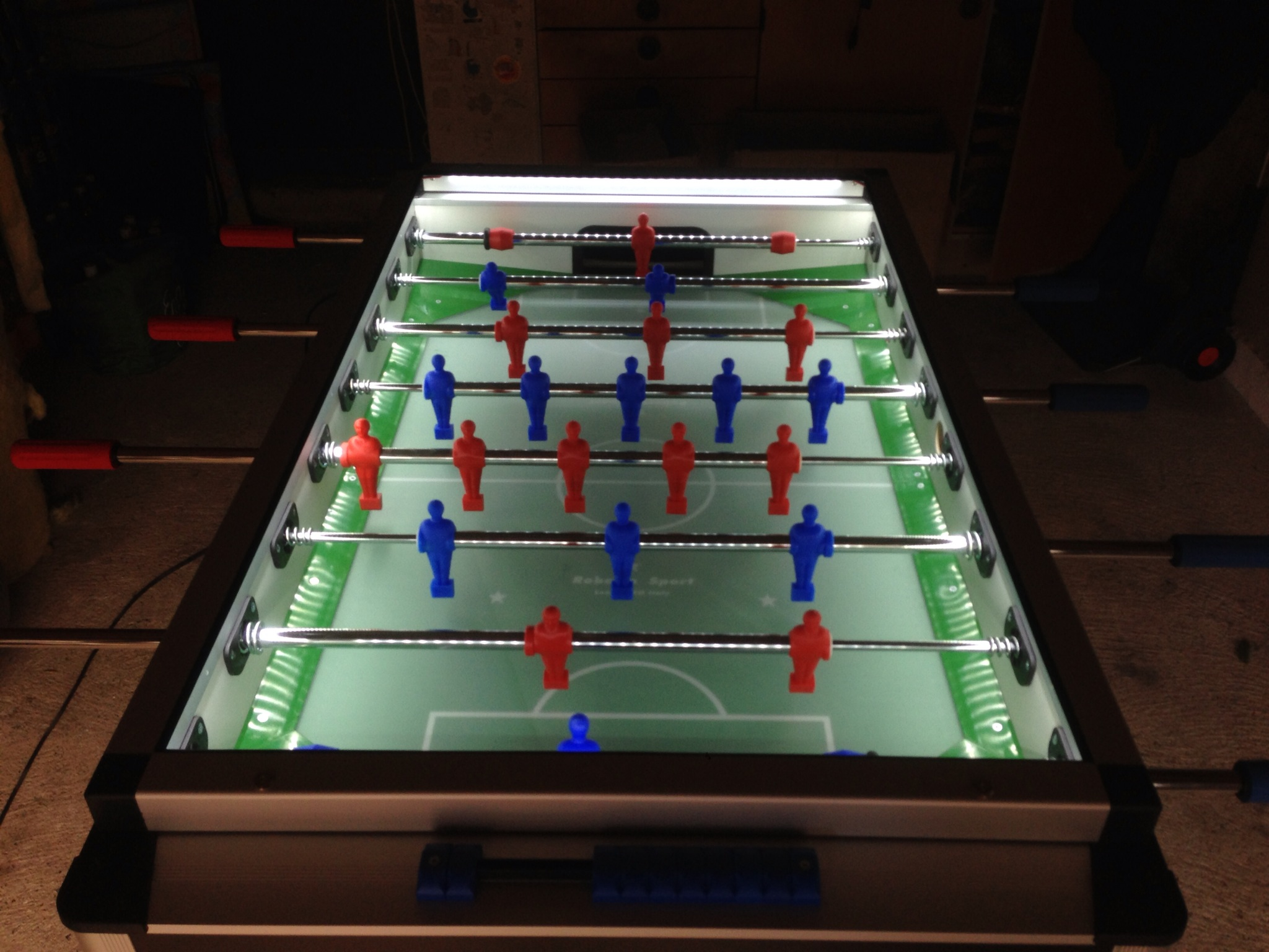 bordfodbold mørkt