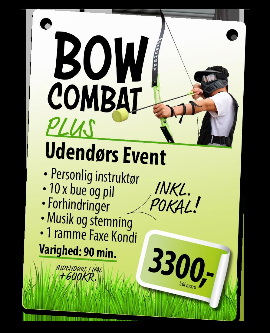 Bowcombat PLUS event-pakke hos 123fest.dk