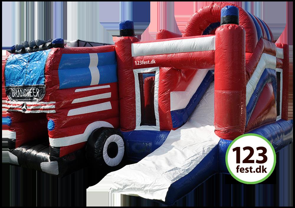 brandbilen hoppeborg med rutsjebane