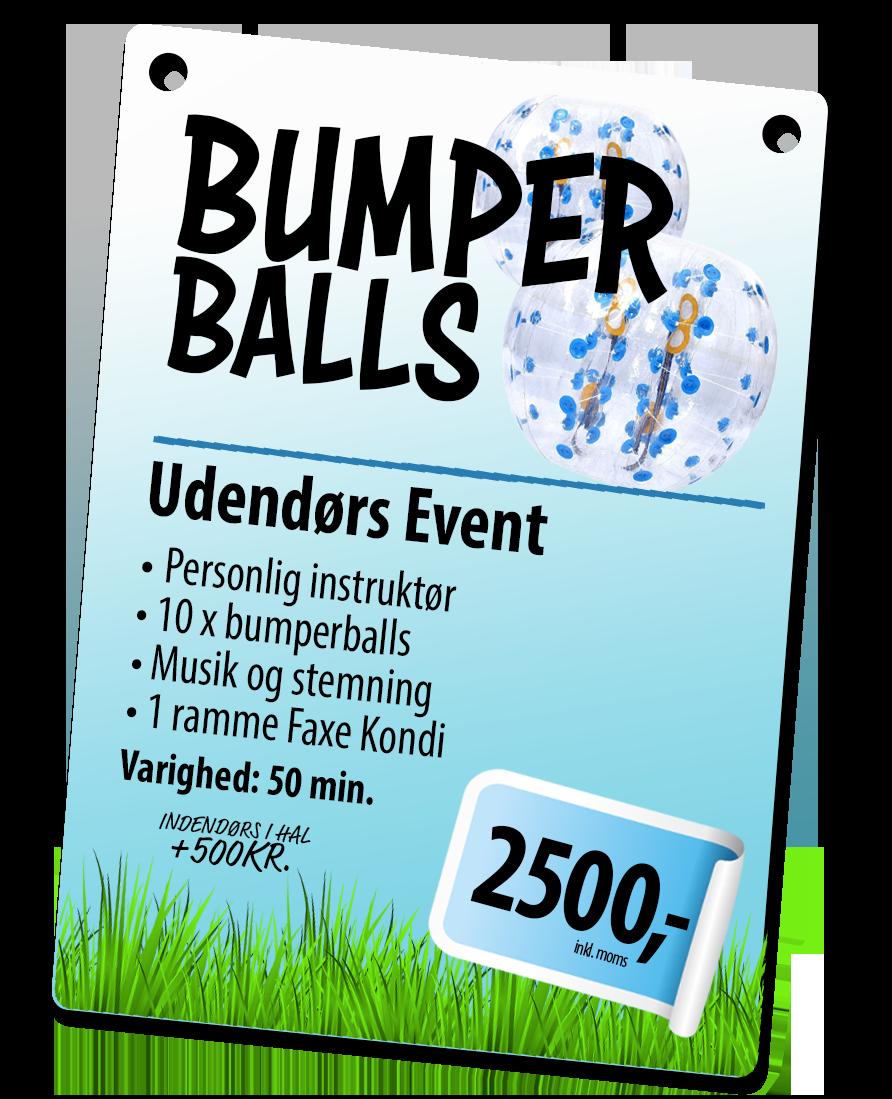 bumperballs event pakke hos 123fest.dk