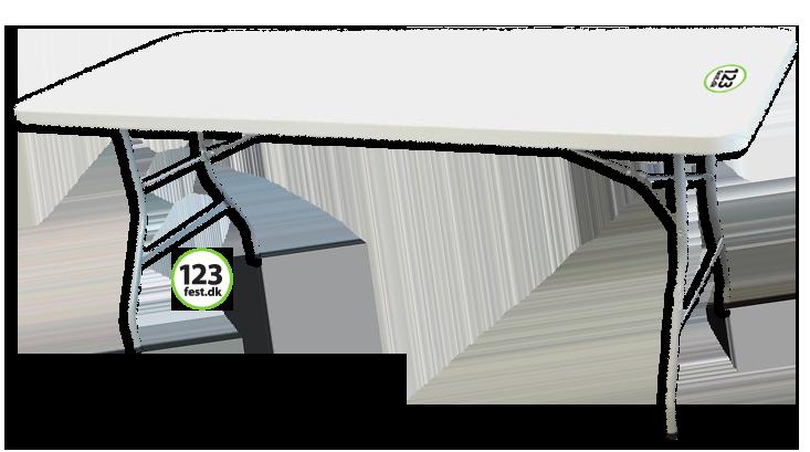 klapbord udlejning af borde hos 123fest.dk