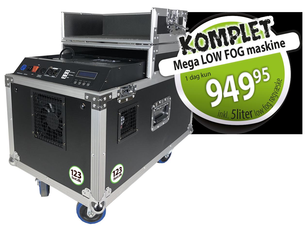 Mega Low-Fog maskine KOMPLET