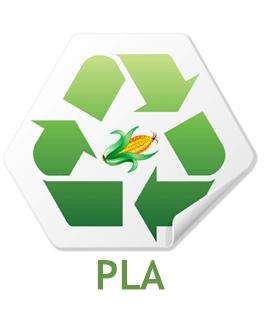 PLA genbrugs plastik majsstivelse