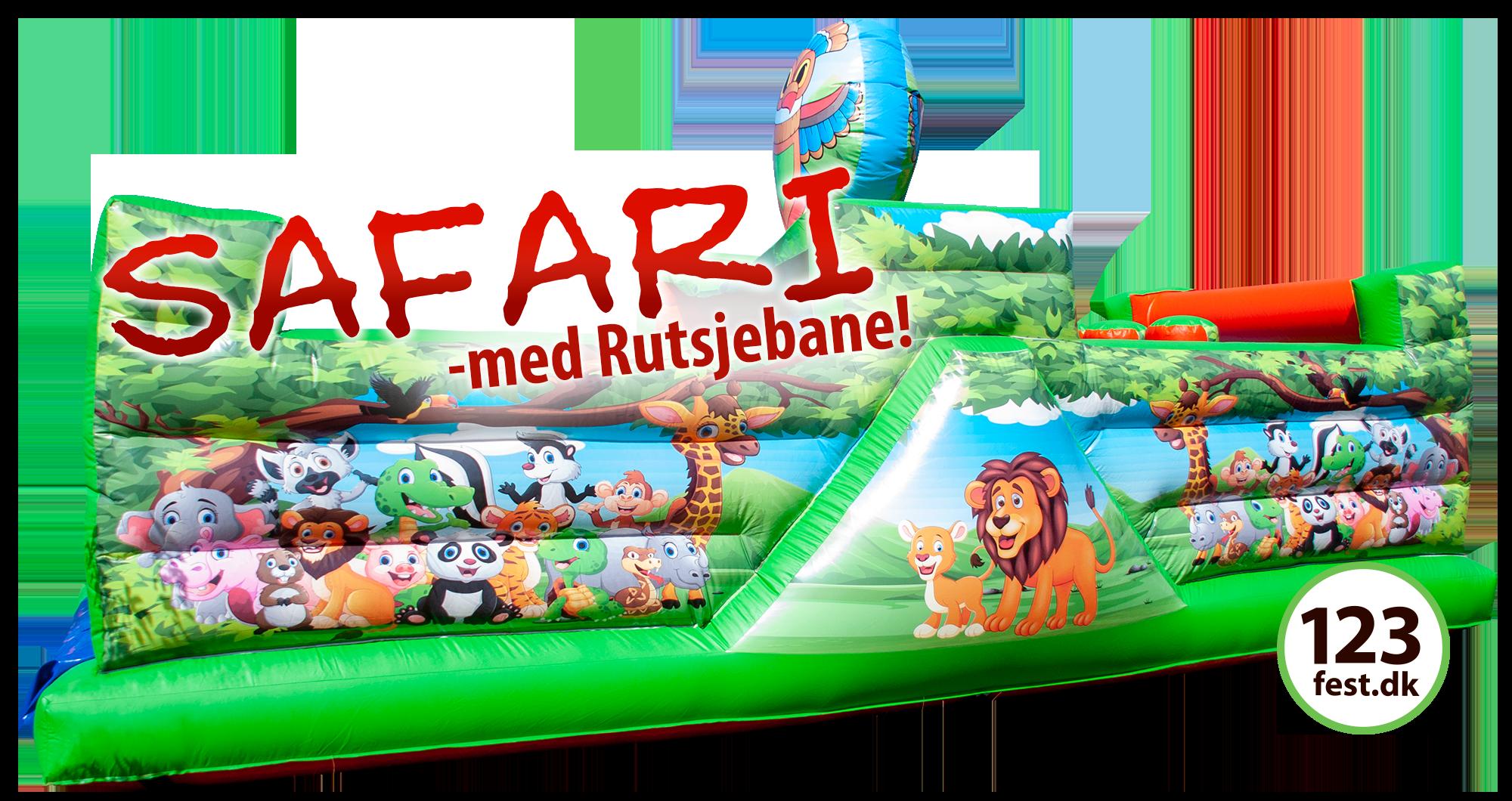 safari hoppeborg med rutsjebane