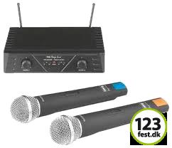 Trådløs mikrofon - trådløse mikrofoner udlejes hos 123fest.dk