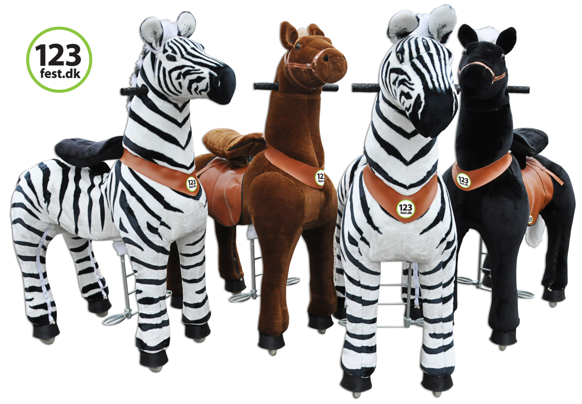 zoo race, zebra stafet, sjov på kørende tøjdyr